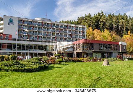 Lucky, Slovakia - October 15: Building Of Spa Lucky In Region Liptov On October 15, 2019 In Lucky