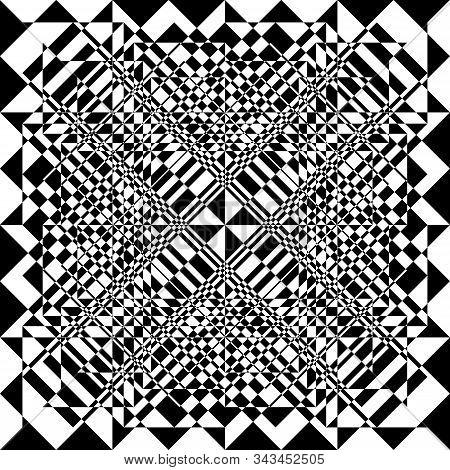 Arabesque Seamless Diamond In Square Descendingplaid Like Inception Abstract Cut Art Deco Illustrati
