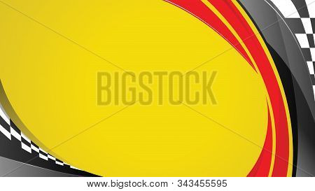 Vector Automotive Banner Template. Racing Speed Background For Poster, Digital Banner, Flyer, Bookle