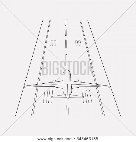 Plane Highway Icon Line Element. Vector Illustration Of Plane Highway Icon Line Isolated On Clean Ba