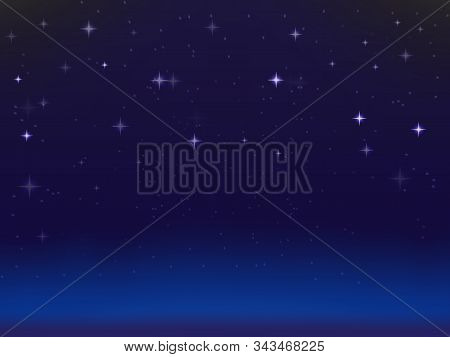 Beautiful Realistic Background Of Starry Sky And Nebula