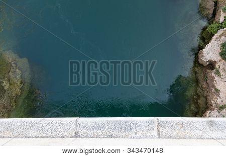 View. Neretva. Bridge. Mostar. High. River