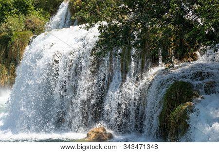 Waterfalls. Cascade. Croatia. National. Park. Water. River. Krka