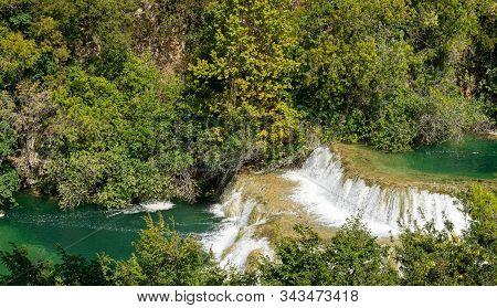 Waterfalls. Croatia. National Park. Cascade. Water. River. Krka