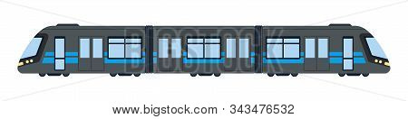 Subway Car Vector Flat Isolated On White
