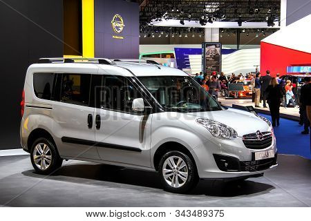 Frankfurt Am Main, Germany - September 14, 2013: Leisure Activity Vehicle Opel Combo Presented At Th