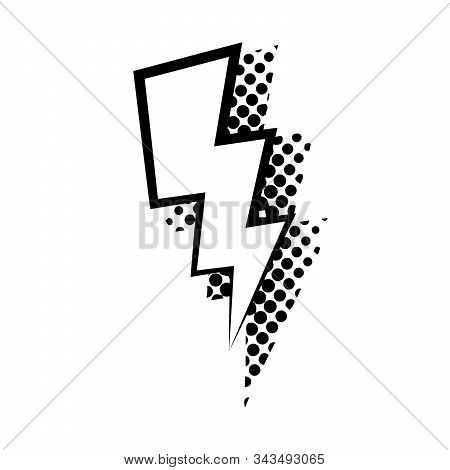 Lightning Comic Speech Babble Vector Flat Isolated