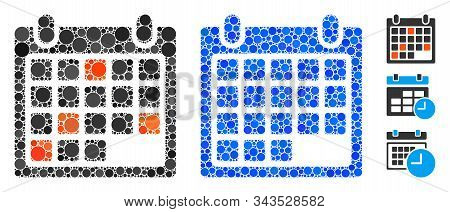 Calendar Appointment Mosaic Of Round Dots In Variable Sizes And Color Tinges, Based On Calendar Appo