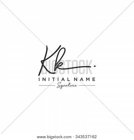 Letter Initial Kk Signature Logo Template Vector