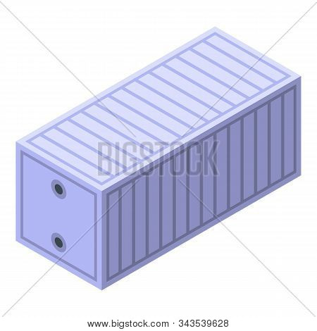 Maritime Cargo Container Icon. Isometric Of Maritime Cargo Container Vector Icon For Web Design Isol