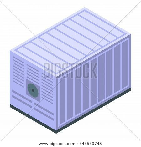 Generator Container Icon. Isometric Of Generator Container Vector Icon For Web Design Isolated On Wh