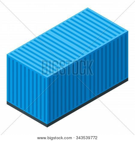 Dockyard Container Icon. Isometric Of Dockyard Container Vector Icon For Web Design Isolated On Whit