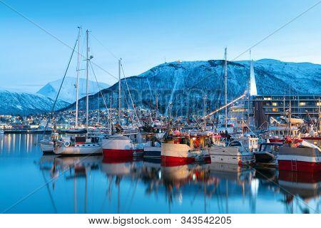 Harbor in Tromso, Norway, Tromso At Winter Time