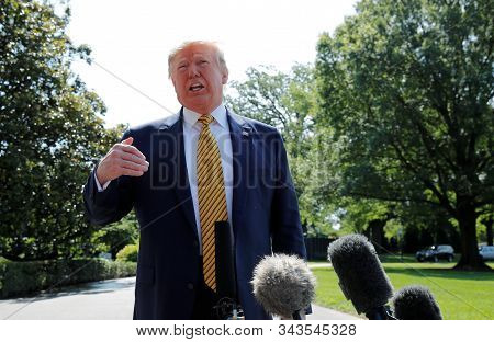 Washington Dc,united States,december 2019,united States President Donald Trump In Press Conference A