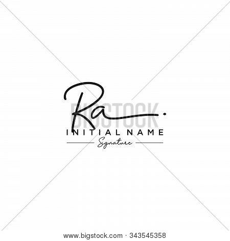 Letter Initial Ra Signature Logo Template Vector
