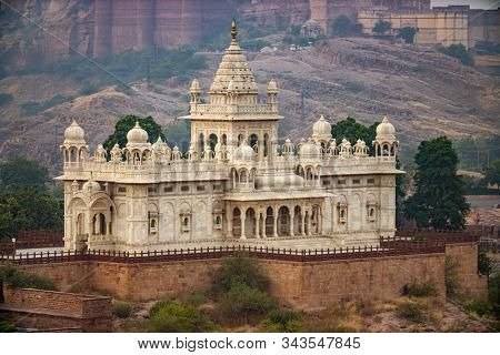 Jaswant Thada is a cenotaph located in Jodhpur, in the Indian state of Rajasthan. Jaisalmer Fort is situated in the city of Jaisalmer, in the Indian state of Rajasthan.
