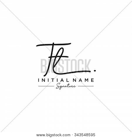 Letter Initial Tt Signature Logo Template Vector
