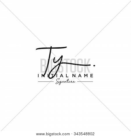 Letter Initial Ty Signature Logo Template Vector
