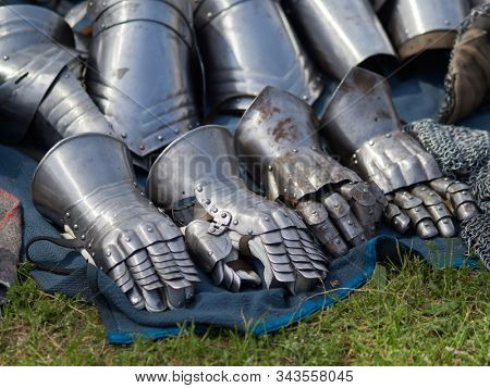 Medieval armor steel gloves transilvania