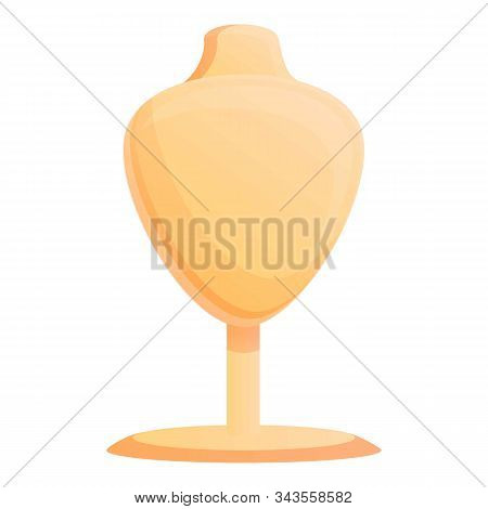 Mannequin Bust Icon. Cartoon Of Mannequin Bust Vector Icon For Web Design Isolated On White Backgrou