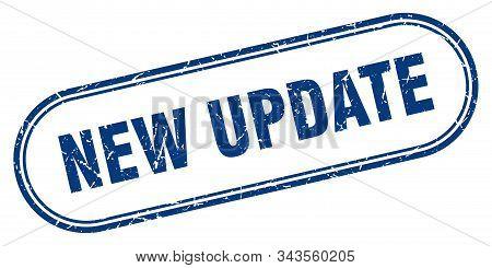 New Update Stamp. New Update Square Grunge Sign. New Update