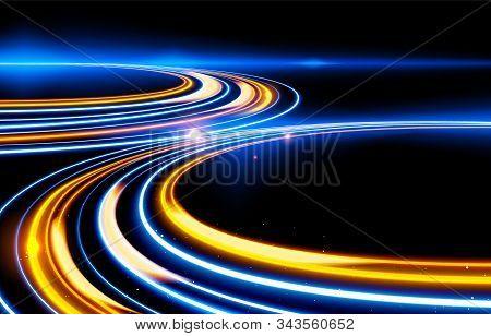 Slow Shutter Light Trails Effect In Vector