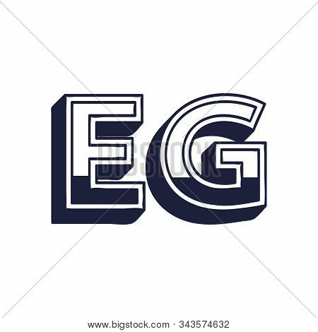 Egypt Country Code Icon. Iso Code Country Domain Name. Eg - Egypt Abbreviated. Stock Vector Illustra