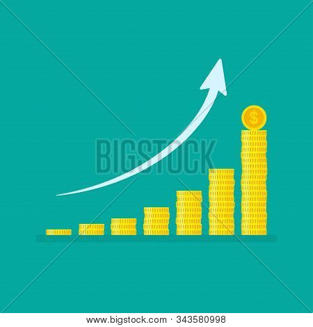 Exponential Growth Graph With Stacks Of Coins