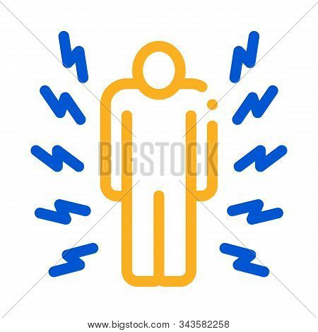 Whole Body Pain Icon Vector. Outline Whole Body Pain Sign. Isolated Contour Symbol Illustration