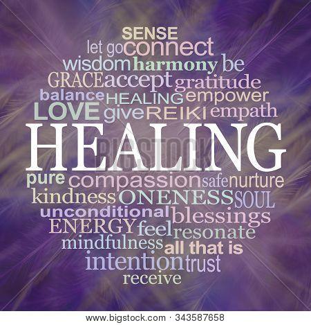 Circle Of Healing Word Tag Cloud Coaster Mouse Mat Template - Circle Of Healing Words Around The Wor