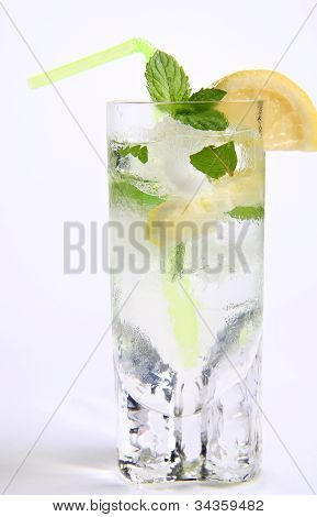 Cocktail With Lemon And Mint