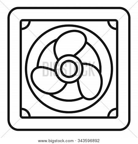 Rotor Blade Fan Icon. Outline Rotor Blade Fan Vector Icon For Web Design Isolated On White Backgroun