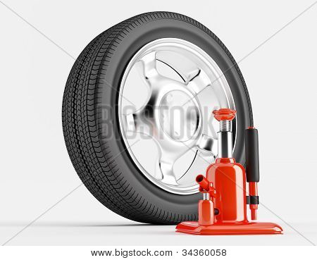 Wheel And Car Jack