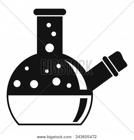 Cork Boiling Flask Icon. Simple Illustration Of Cork Boiling Flask Vector Icon For Web Design Isolat