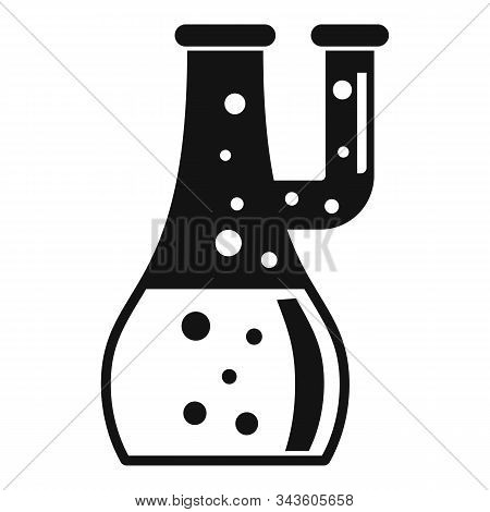 Study Boiling Flask Icon. Simple Illustration Of Study Boiling Flask Vector Icon For Web Design Isol