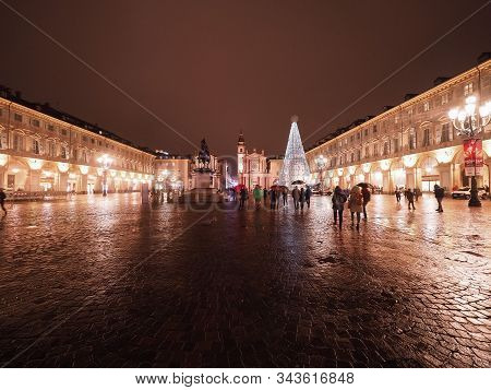 Piazza San Carlo Square In Turin