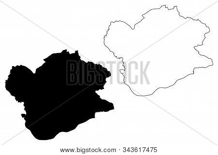 South Banat District (republic Of Serbia, Districts In Vojvodina) Map Vector Illustration, Scribble