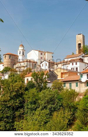historical town of Cremolino, Piemonte, Italy