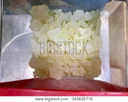 Mastic Gum In Metal Box For Sale. Ready To Use / Mastic Tree Tears From Chios Greek Island. Organic