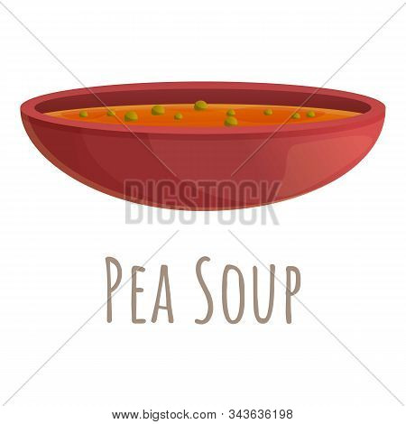 Pea Soup Icon. Cartoon Of Pea Soup Vector Icon For Web Design Isolated On White Background