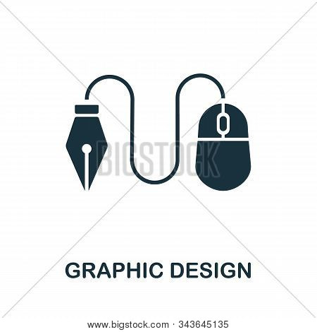 Graphic Design Icon. Simple Element From Design Technology Collection. Filled Graphic Design Icon Fo