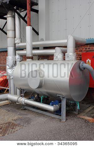Condensate pumping set