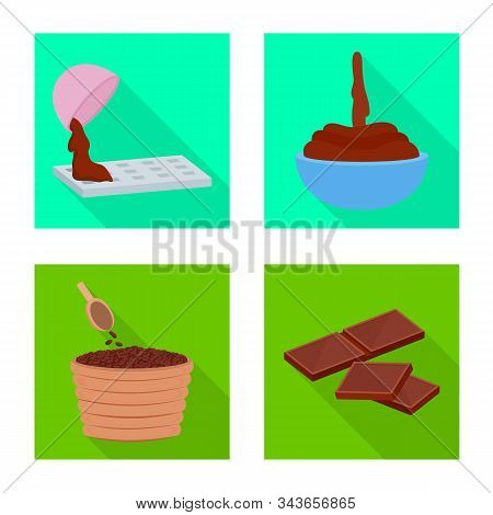 Vector Design Of Treat And Product Icon. Set Of Treat And Yummy Vector Icon For Stock.