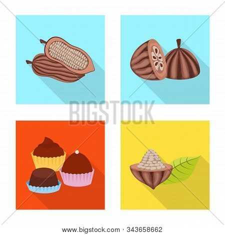 Vector Illustration Of Treat And Product Symbol. Collection Of Treat And Yummy Vector Icon For Stock