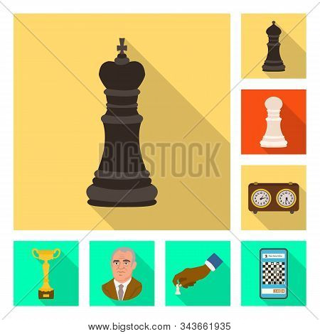 Vector Design Of Checkmate And Thin Symbol. Collection Of Checkmate And Target Vector Icon For Stock