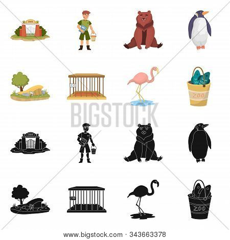 Isolated Object Of Nature And Fun Sign. Set Of Nature And Entertainment Stock Symbol For Web.