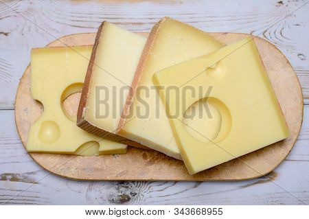 Cheese Collection, Swiss Emmentaler, Gruyere, Appenzeller Cheeses
