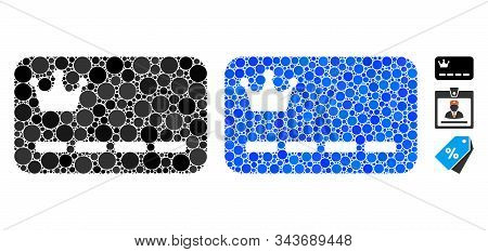 Vip Card Composition Of Filled Circles In Various Sizes And Shades, Based On Vip Card Icon. Vector F