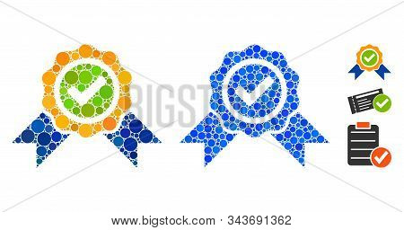 Official Composition Of Filled Circles In Various Sizes And Color Tinges, Based On Official Icon. Ve
