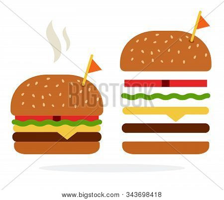 Burger With Chicken And Cheese In A Rye Bun And Recipe Of Rye Burger